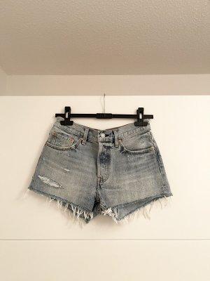 Levis 501 Vintage High Rise Denim Shorts W26 Neu