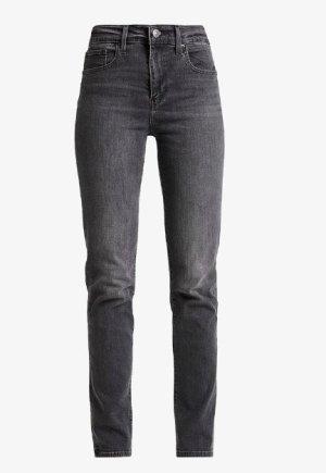 Levi's Hoge taille jeans antraciet-zwart Katoen