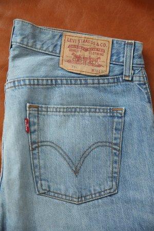 Levi's Jeansy o kroju boot cut błękitny Bawełna