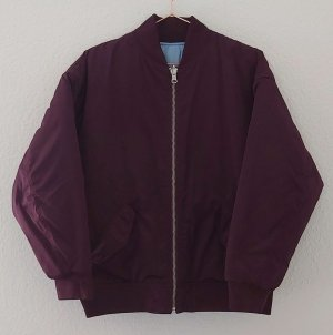 Levis Bomber Jacke Wendejacke quilted lila aubergine XS