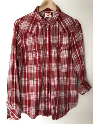 Long Sleeve Shirt red-white
