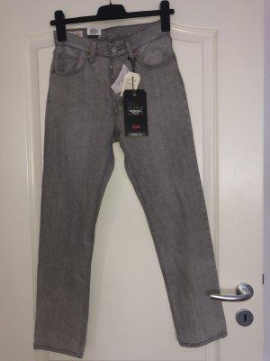 Levis Spodnie typu boyfriend srebrny-szary