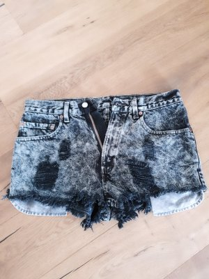 Levi's Pantaloncino di jeans bianco-nero