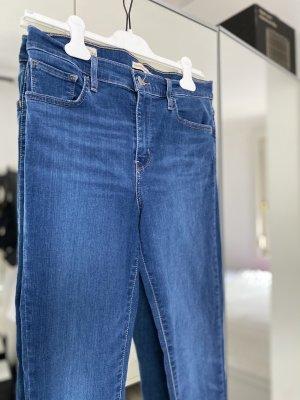 Levis Pantalone a vita alta blu