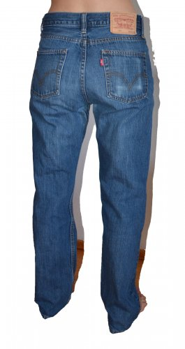Levi's Low Rise jeans blauw-donkerblauw Katoen