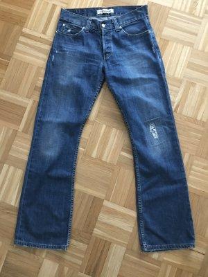 Levis Jeansy o kroju boot cut ciemnoniebieski Bawełna