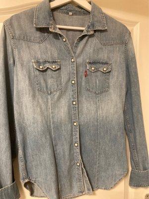 Levi's Camicia denim blu fiordaliso