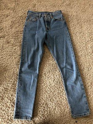 Levi's High Waist Jeans azure cotton