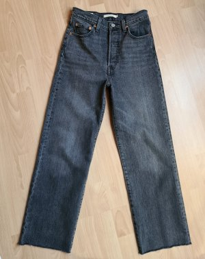 Levi's Hoge taille jeans donkergrijs