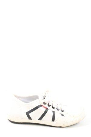 Levis Schnürsneaker wollweiß-schwarz Streifenmuster Casual-Look