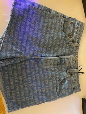 Levi's Short moulant blanc-bleu fluo