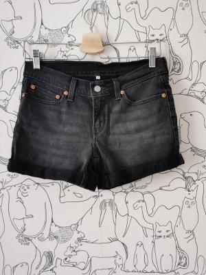 Levis Jeansowe szorty czarny