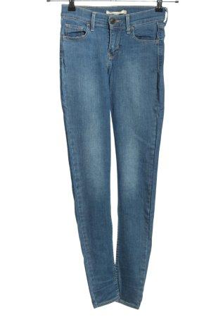Levis Skinny Jeans blau Casual-Look