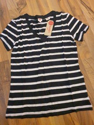 levis tshirt neu schwarz weiß gestreift xS