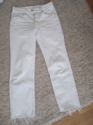 Levis Vintage 501 Jeans weiß high rise