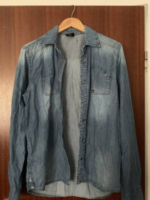 Levis washed used look jeans jacke hemd