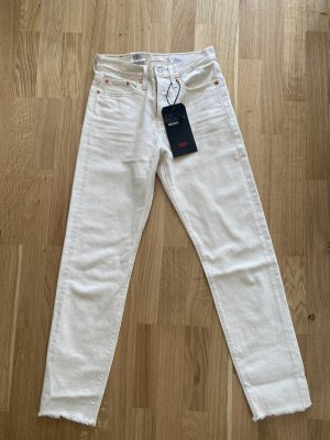 Levis 3/4 Length Jeans white-natural white cotton