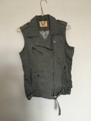 Levi's Biker Vest grey cotton