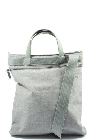 Lexon Bolso de tela gris claro Patrón de tejido look casual