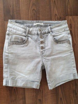 Lexxury Denim Shorts silver-colored-light grey