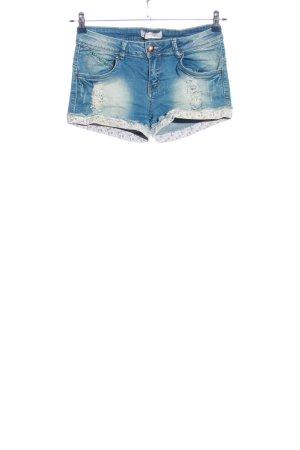 Lexxury Denim Shorts blue-white casual look