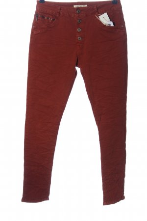Lexxury Drainpipe Trousers red casual look