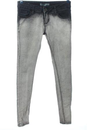 Lexxury Drainpipe Trousers black-light grey casual look
