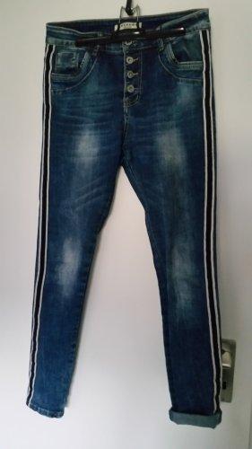 Lexxury Hoge taille jeans blauw Gemengd weefsel