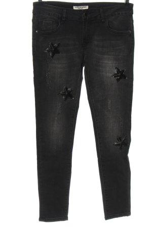 Lexxury Slim Jeans schwarz Casual-Look