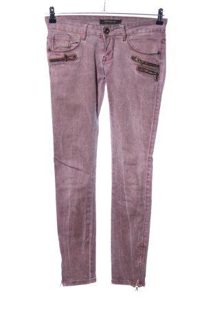 Lexxury Slim Jeans lila Casual-Look