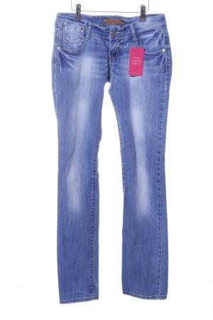 Lexxury Straight-Leg Jeans blau Casual-Look