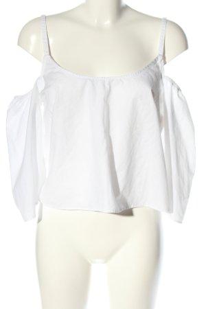 lft Kurzarm-Bluse weiß Casual-Look