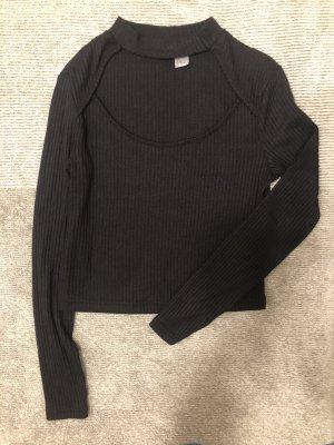 H&M Koszula o skróconym kroju czarny