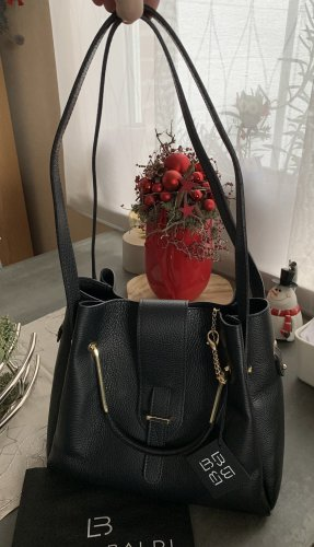 Lia Biassoni Borsa shopper nero-oro Pelle
