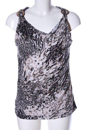 Liberty ärmellose Bluse abstraktes Muster Casual-Look