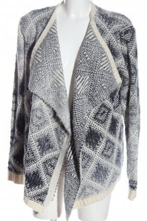 Liberty Cardigan blau-weiß grafisches Muster Casual-Look
