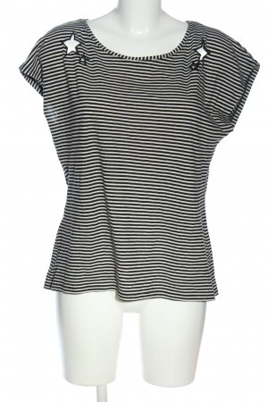 Liberty Ringelshirt schwarz-wollweiß Streifenmuster Casual-Look