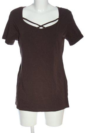 Liberty T-shirt marrone stile casual
