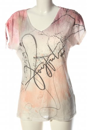 Liberty T-shirt crema-rosa Colore sfumato stile casual