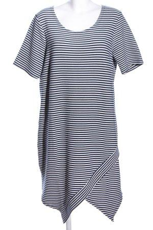 Liberty Kurzarmkleid weiß-schwarz Streifenmuster Casual-Look