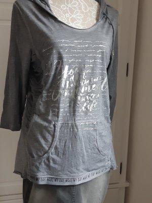 Liberty Hooded Shirt grey cotton