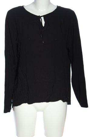 Liberty Langarm-Bluse schwarz Casual-Look