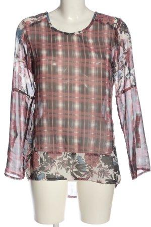 Liberty Camicetta a maniche lunghe motivo floreale stile casual