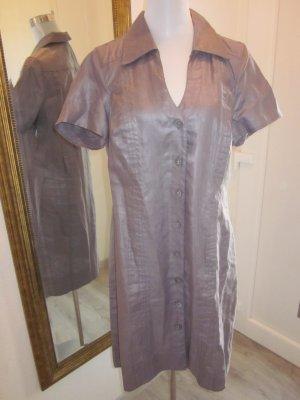 Liberty Vestido de camuflaje gris-malva Lino