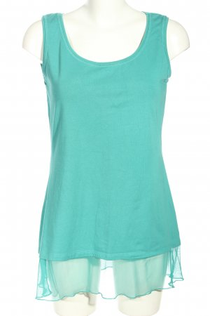 Liberty Top lungo turchese stile casual
