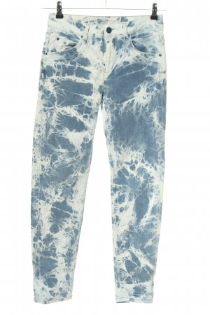 Liberty Stretch Jeans blau-weiß Allover-Druck Casual-Look