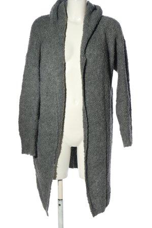 Liberty Cardigan in maglia grigio chiaro puntinato stile casual