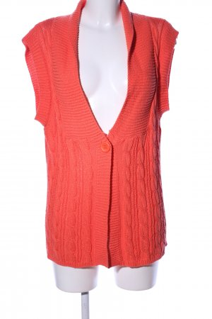 Liberty Strickweste rot Zopfmuster Casual-Look