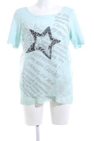 Liberty T-shirt Stampa a tema stile casual