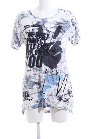 Liberty Camiseta estampado con diseño abstracto look casual
